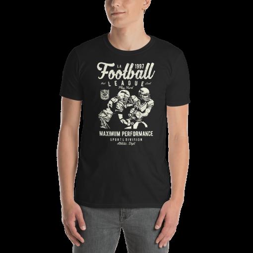 Football League mockup Front Mens Black