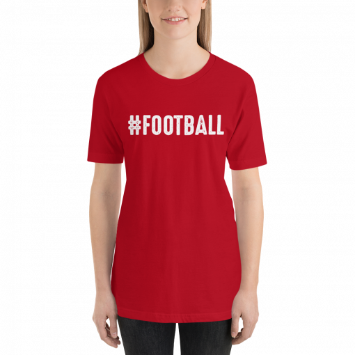 Football w mockup Front Womens Red