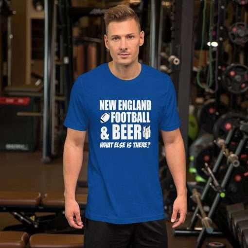 New England football mockup Front Mens Lifestyle True Royal