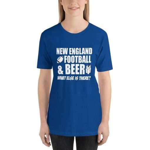 New England football mockup Front Womens True Royal