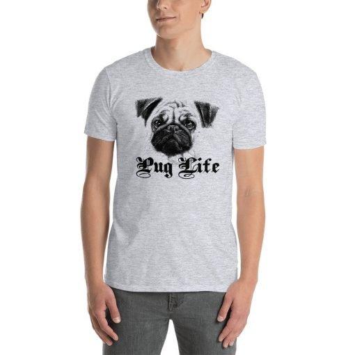 PUG LIFE.psd mockup Front Mens Sport Grey