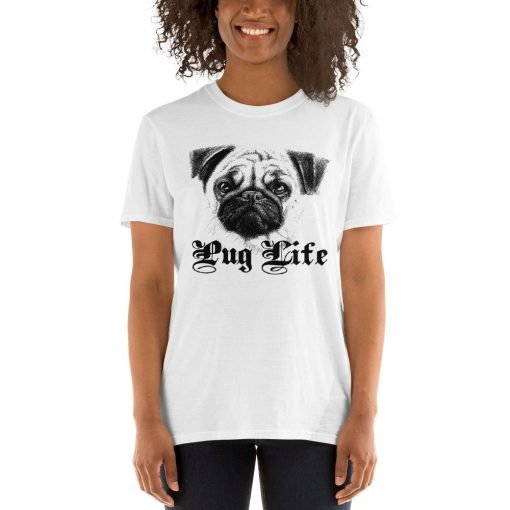 PUG LIFE.psd mockup Front Womens 2 White