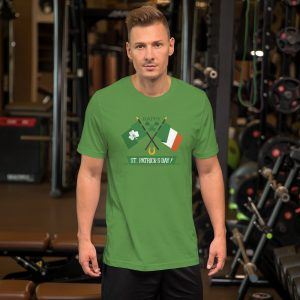 St Pats Flags mockup Front Mens Lifestyle Leaf