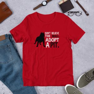 dont believe the bull mockup Front Flat Lifestyle Red