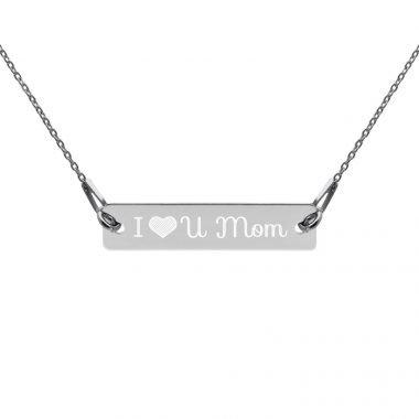 engraved silver bar chain necklace black rhodium coating flat 607c512ec7902
