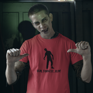 halloween mockup of a zombie man wearing a t shirt 29339