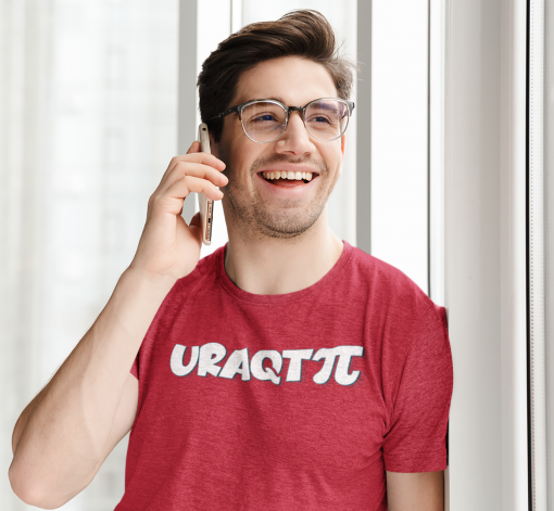 heathered t shirt mockup featuring a happy man making a phone call 44338 r el2
