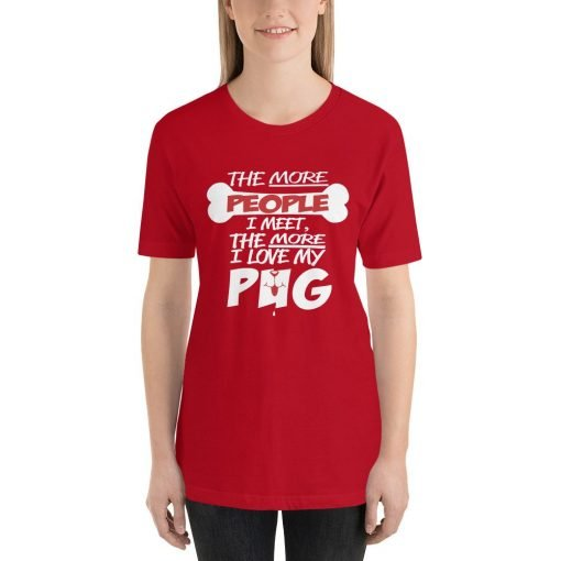 i love my pug mockup Front Womens Red