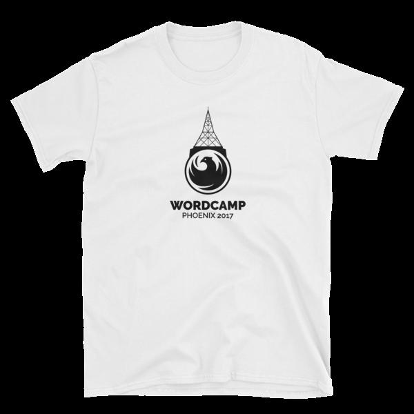 WordCamp PHX Basic Short-Sleeve Unisex T-Shirt in White