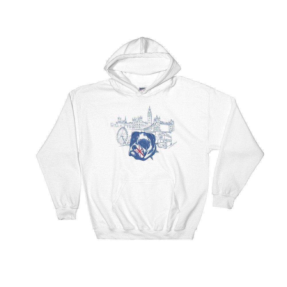 English Bulldog in the UK Hooded Sweatshirt