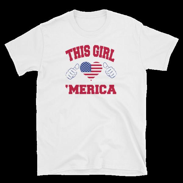 This Girl Love 'Merica Short-Sleeve Unisex T-Shirt
