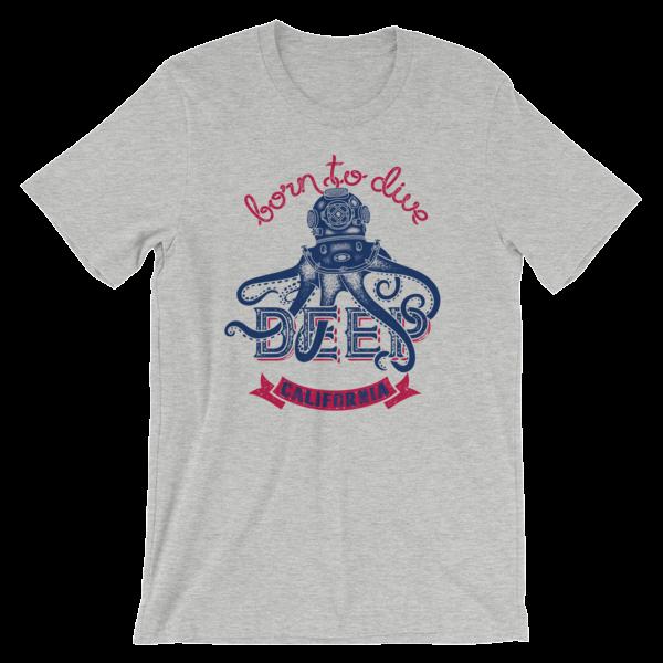 Born to Dive Deep California Unisex t-shirt