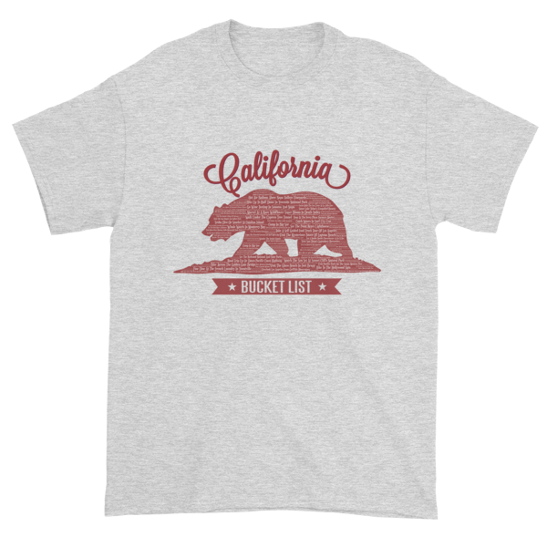 California Bucket List Short sleeve t-shirt