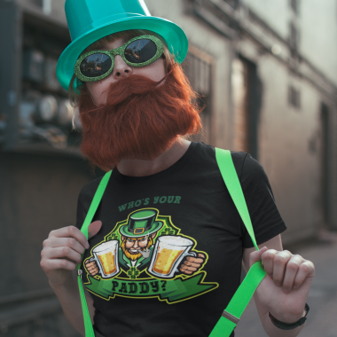mockup of a woman wearing a cute tee on st patrick s day 19566 1