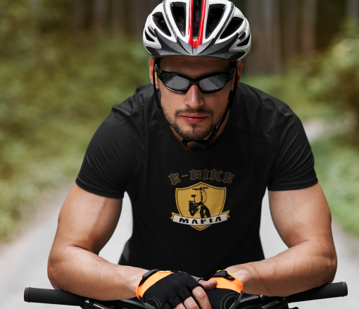 t shirt mockup featuring a male cyclist 38258 r el2