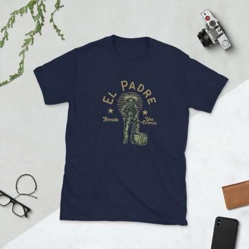 unisex basic softstyle t shirt navy front 60b111d48495f